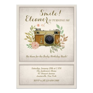 Vintage Camera Invitation