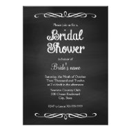 Vintage Chalk Board Bridal Shower Invitations