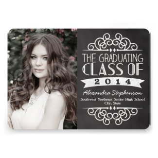 Vintage Chalkboard Graduations Photo Card