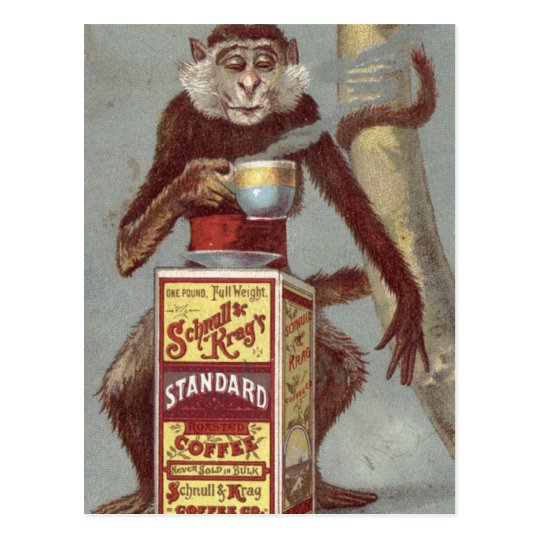 Vintage Coffee Ad Postcard