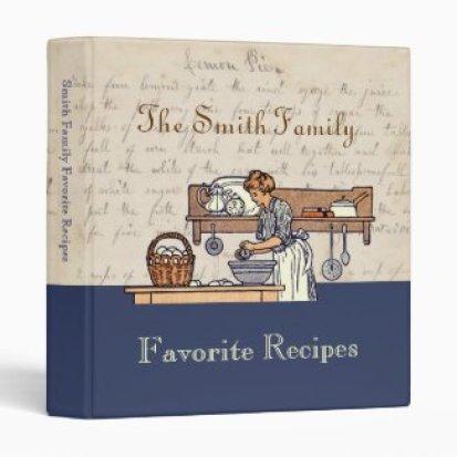 Vintage Custom Heirloom Family Recipe Binder