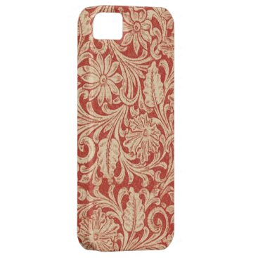 Vintage Damask Floral Red Case-Mate iPhone 5