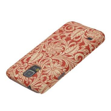 Vintage Damask Floral Red Samsung Galaxy Nexus Galaxy S5 Case