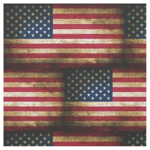 Vintage Distressed American Flag Fabric Zazzle