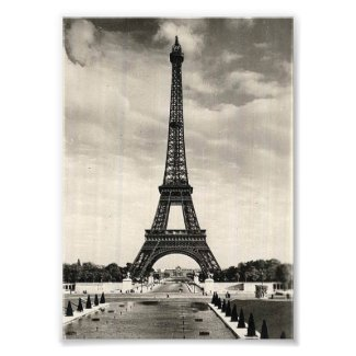 Vintage Eiffel Tower Paris Photo Print
