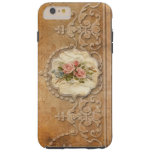 ❤️ Pretty Vintage Embossed Gold Scrollwork and Roses Tough iPhone 6 Plus Case