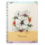 Vintage Floral Blossom Spiral Photo Notebook