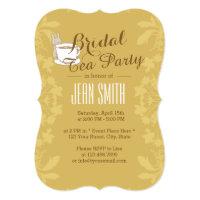 Vintage Floral Bridal Tea Party Card
