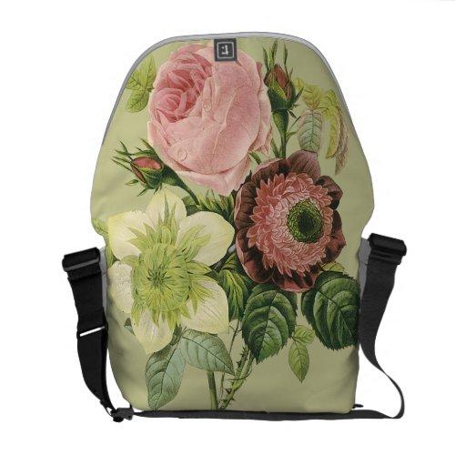 Vintage Floral rickshaw_messengerbag