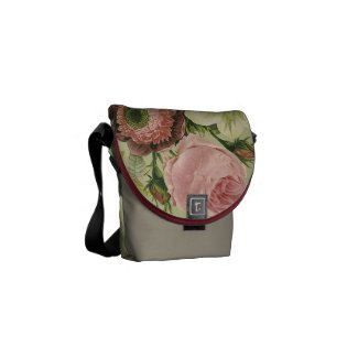 Vintage Floral Messenger Bags