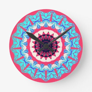 Vintage floral pattern wall clocks