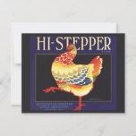 High Stepper Chicken Vintage Fruit Crate Lablel Card