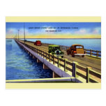 Vintage Gandy Bridge Tampa Bay Postcard