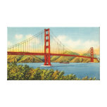Vintage Golden Gate Bridge San Francisco Travel Canvas Print