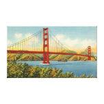 Vintage Golden Gate Bridge San Francisco Travel Canvas Print