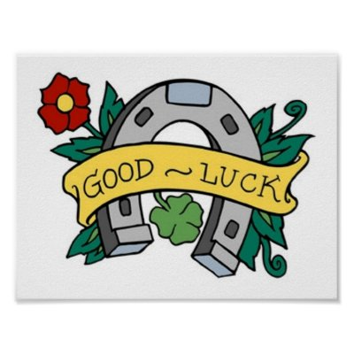 Vintage Good Luck Horseshoe Tattoo Posters by vintagegiftmall