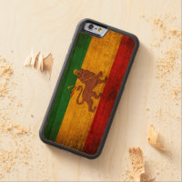 Vintage Grunge Rastafarian Flag Carved Cherry iPhone 6 Bumper