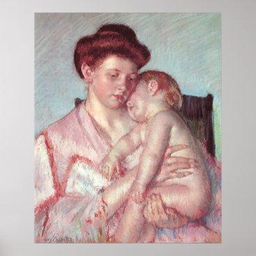 Vintage Impressionism, Sleepy Baby by Mary Cassatt Poster