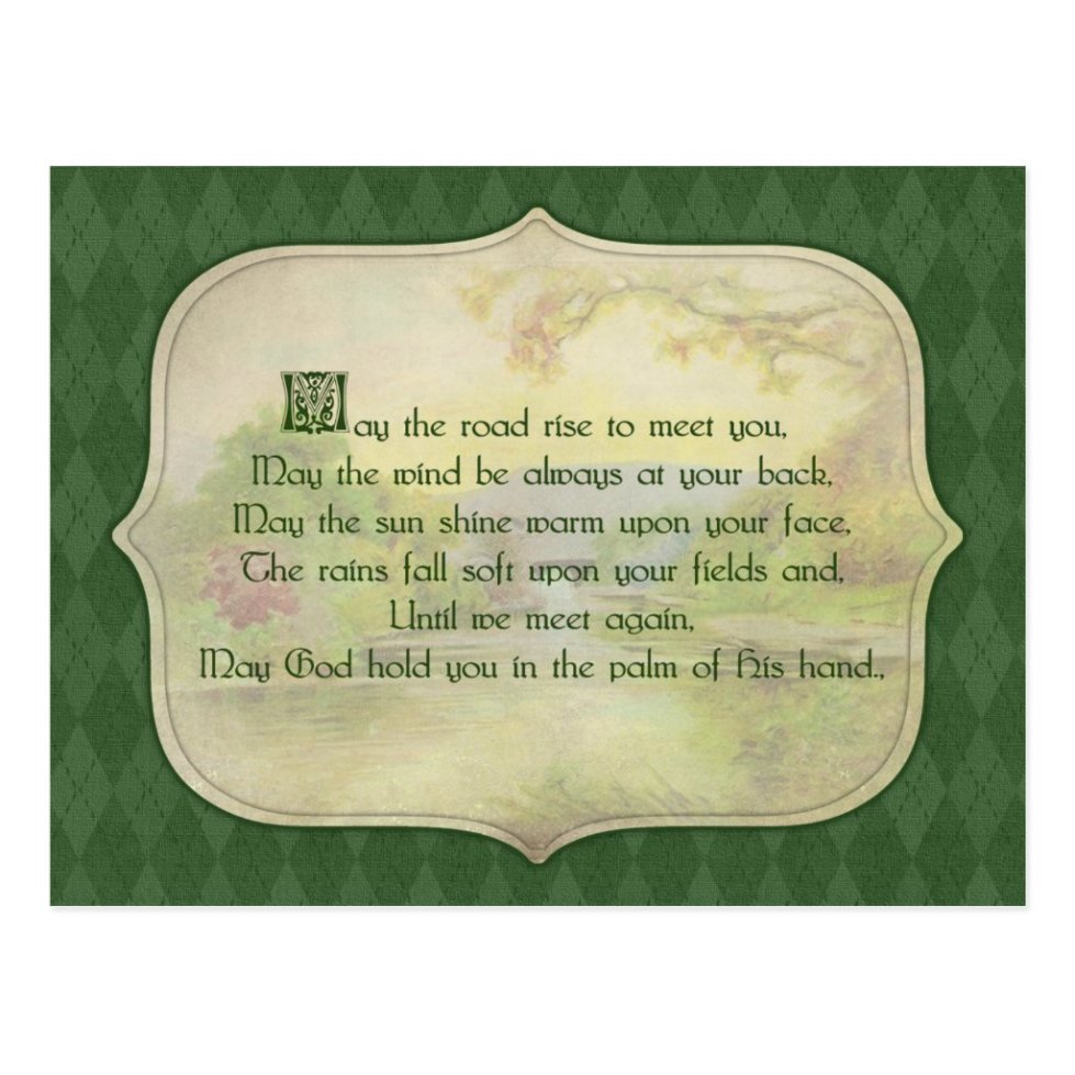 Vintage Irish Blessing Postcard
