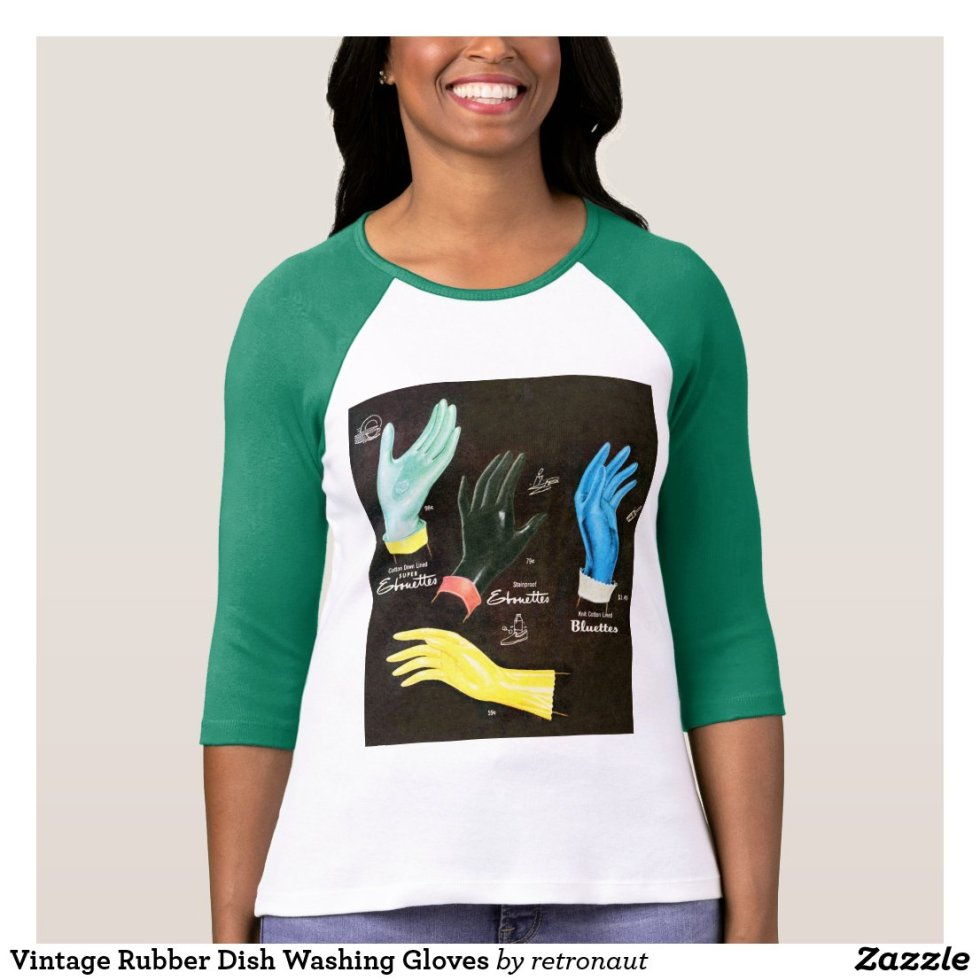 Vintage Kitsch 60s Rubber Gloves Cleaning T-Shirt