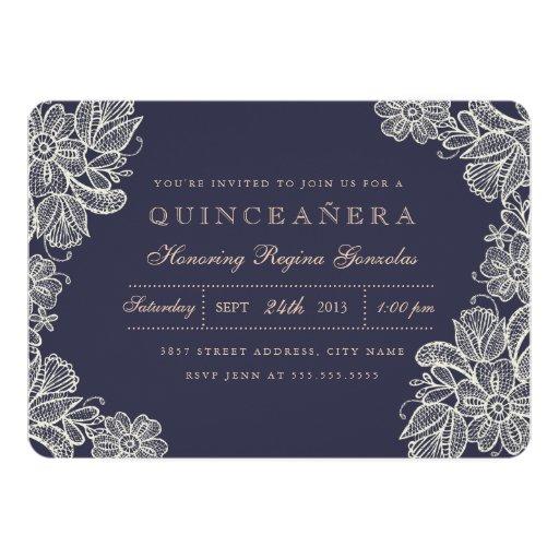 Vintage Lace Quinceañera Card