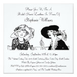 Vintage Ladies with Hats Elegant Bridal Shower Invitation