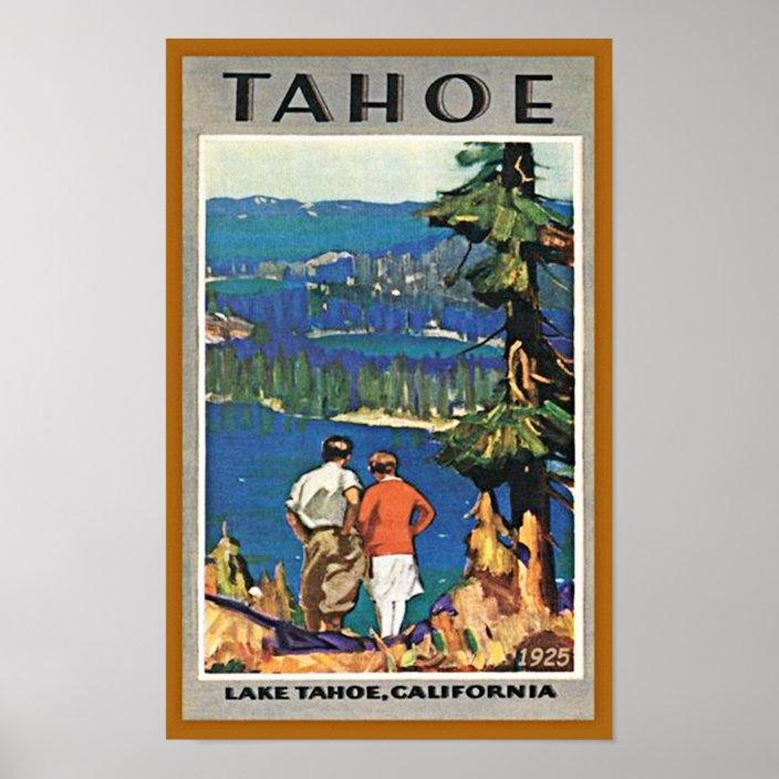 vintage lake tahoe travel poster zazzle com
