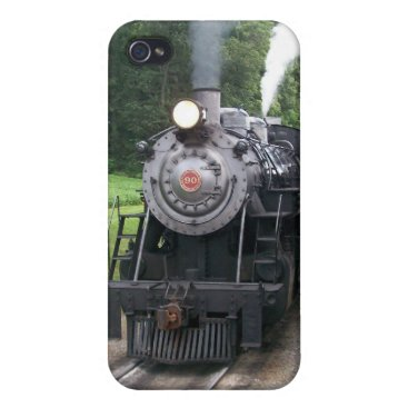 Vintage Locomotive Train i Cover For iPhone 4