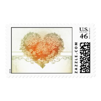 vintage love heart postage stamps vintage love he