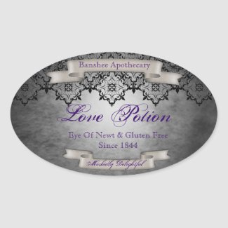 Vintage Love Potion Halloween Bottle Stickers