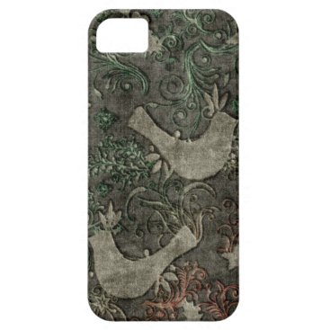 Vintage LoveBirds Embossed Print Case iPhone 5