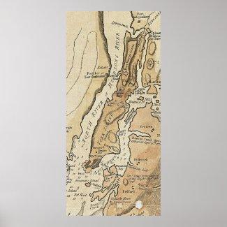 Vintage Manhattan Map (1781) Posters