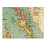 Vintage Map of Baja California (1899) Postcard