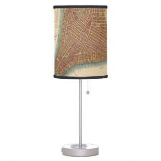 Vintage Map of Lower New York City (1807) Desk Lamps