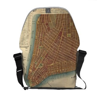 Vintage Map of Lower New York City (1807) Messenger Bag