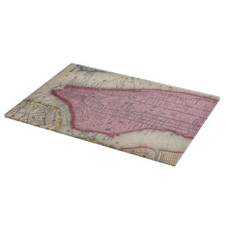 Vintage Map of Lower New York City (1860) Cutting Board