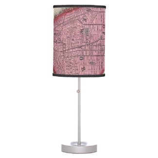 Vintage Map of Lower New York City (1860) Table Lamp