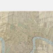 HD Decor Images » Make Your Own Vintage Map Of New Orleans Blanket   Bundle Up In     Vintage Map of New Orleans  1919  Fleece Blanket
