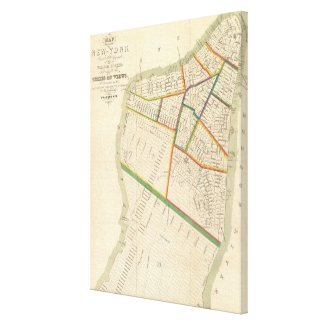 Vintage Map of New York City (1831) Canvas Prints