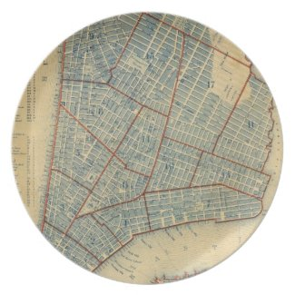 Vintage Map of New York City (1846) Party Plate