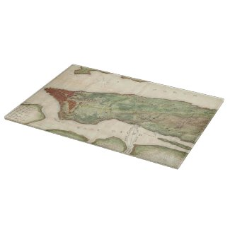 Vintage Map of New York City (1878) Cutting Boards