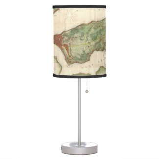 Vintage Map of New York City (1878) Table Lamp