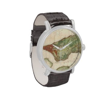 Vintage Map of New York City (1878) Wristwatch