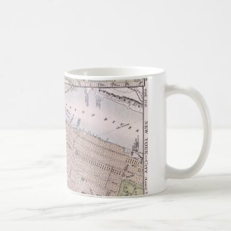 Vintage Map of New York City (1884) Coffee Mug