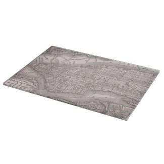 Vintage Map of New York City (1886) Cutting Board