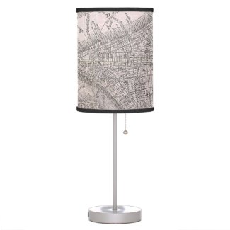 Vintage Map of New York City (1886) Desk Lamp