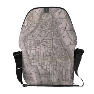 Vintage Map of New York City (1886) Messenger Bag