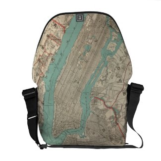 Vintage Map of New York City (1890) Courier Bags