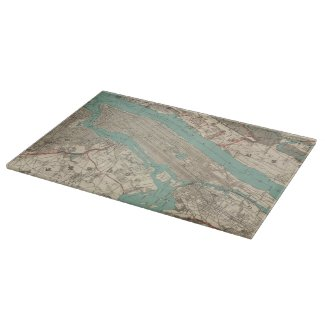 Vintage Map of New York City (1890) Cutting Boards