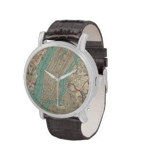 Vintage Map of New York City (1890) Wrist Watches